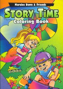 maralee dawn, colouring book, cover sample